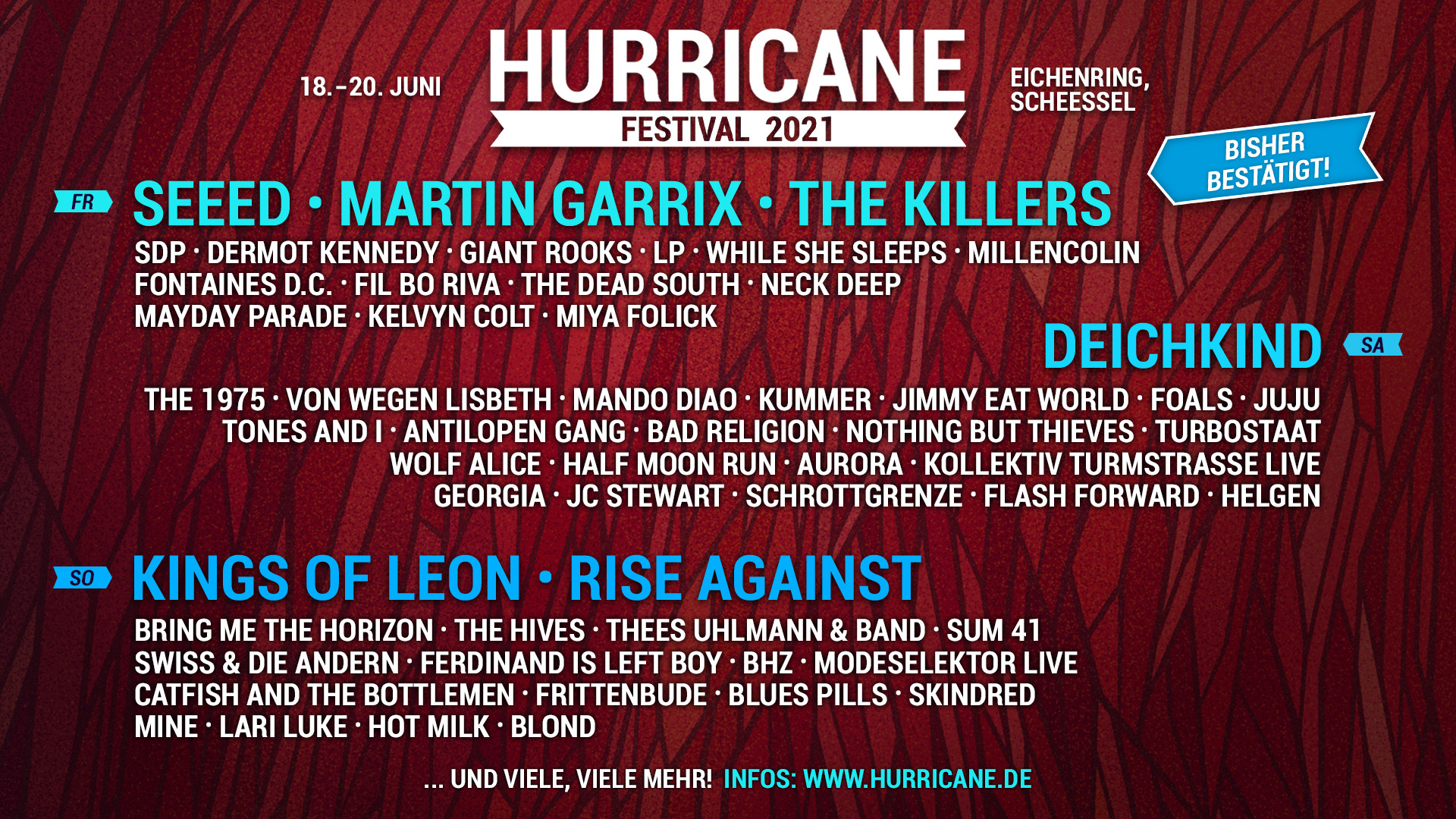 Line Up Hurricane 2021
